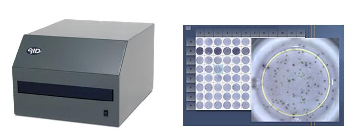 Рис.63. ELISPOT-ридер: AID EliSpot Reader. Визуализация ELISPOT-анализа с помощью автоматического ридера